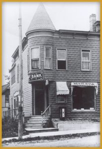 black and white photo of the old reeseville building