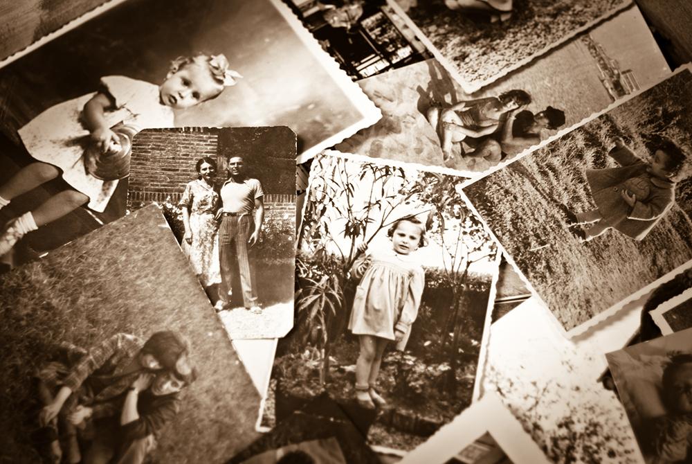 old photos overlaid on each other