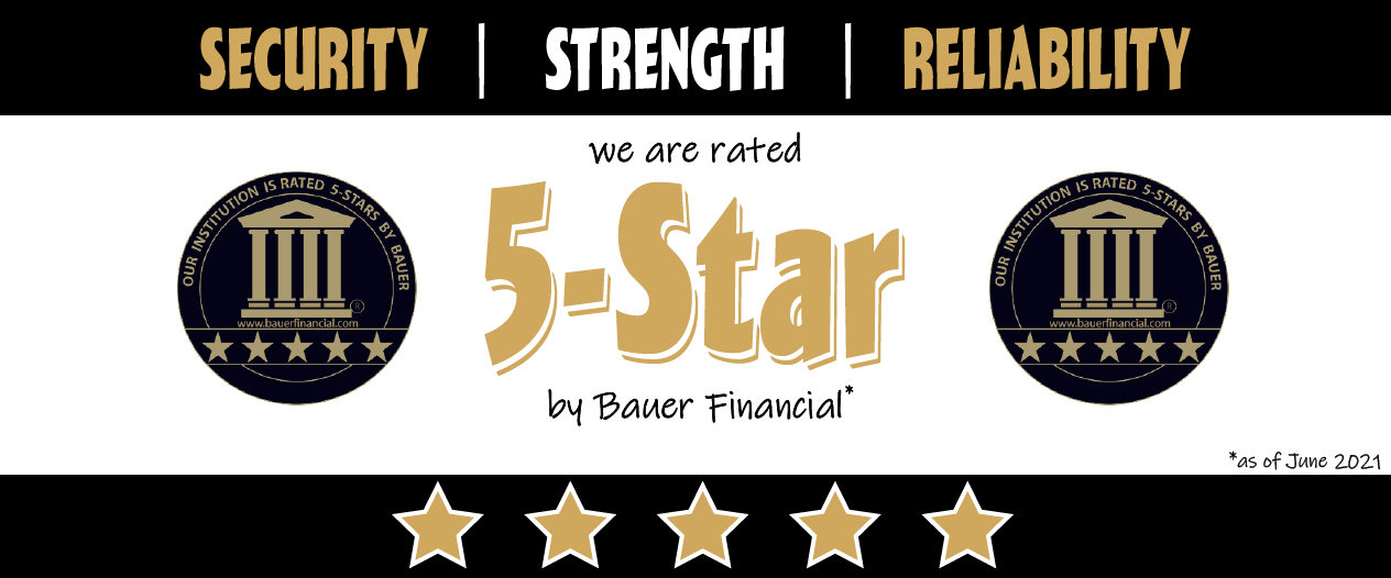 State Bank or Reeseville located in Wisconsin is a 5-Star Bank. Rated Independently by Bauer Financial.